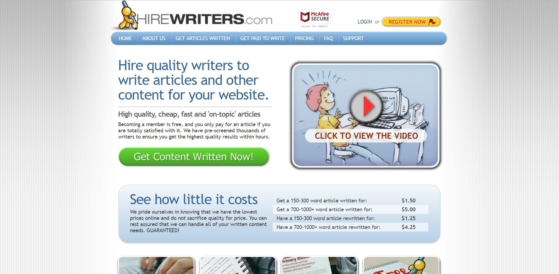 Hirewriters.com Review