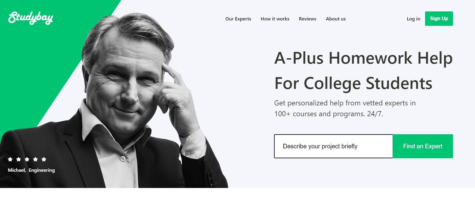 studybay homepage
