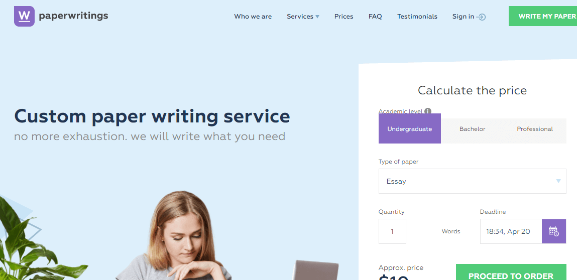 Paperwritings.com writing service review